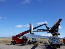 Magni Telehandler Involved in Wind-Turbine Kite Experiment